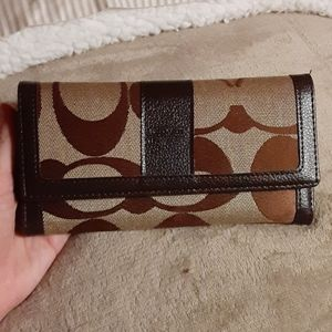 Coach wallet genuine leather